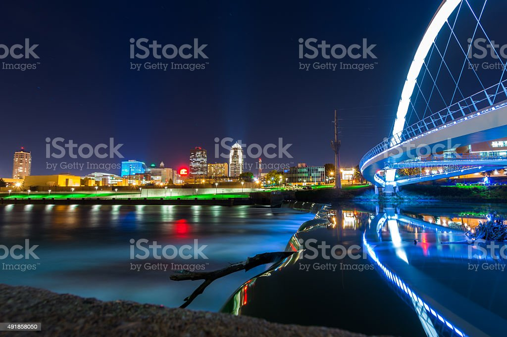 Des Moines Iowa stock photo
