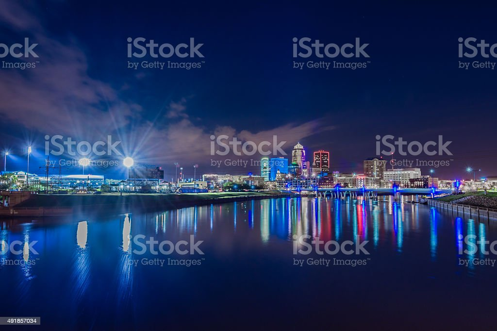 Des Moines, Iowa Skyline stock photo