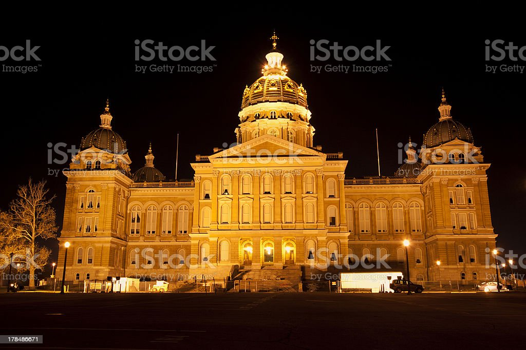 Des Moines, Iowa - State Capitol Building royalty-free stock photo