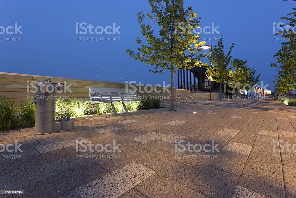 Des Moines Riverwalk royalty-free stock photo