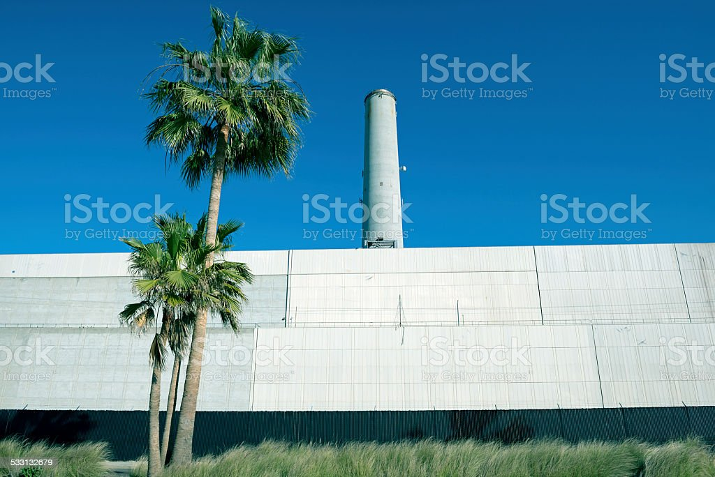 Desalination plant in Carlsbad CA stock photo