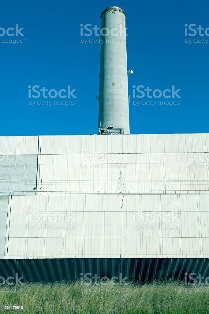 Desalination plant in southern California stock photo