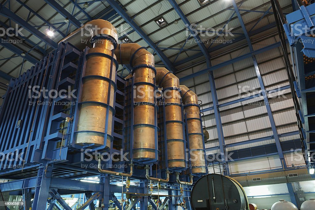 Desalination Plant Of Power Station stock photo