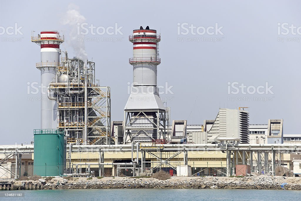 desalination plant stock photo