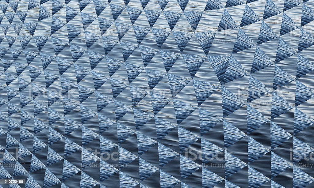 Desaturated Blue Gray Abstract Geometric Waves Pattern Technology Background stock photo