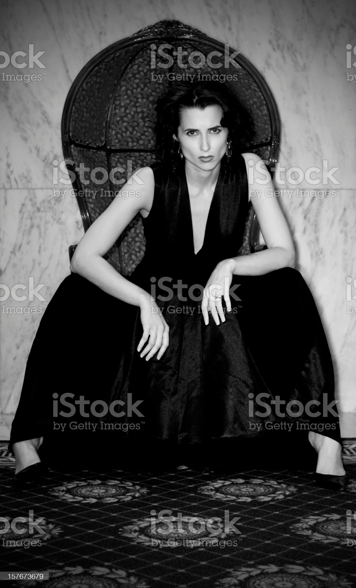 Desaturated Brunette, Classic Beauty, Attitude royalty-free stock photo