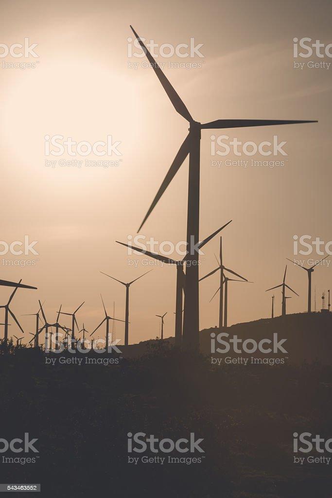 Desaturated Coachella Turbines stock photo