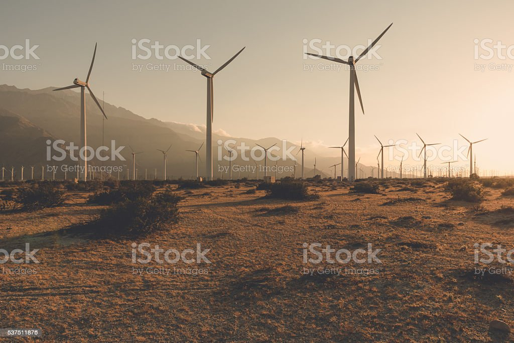 Desaturated Palm Springs stock photo