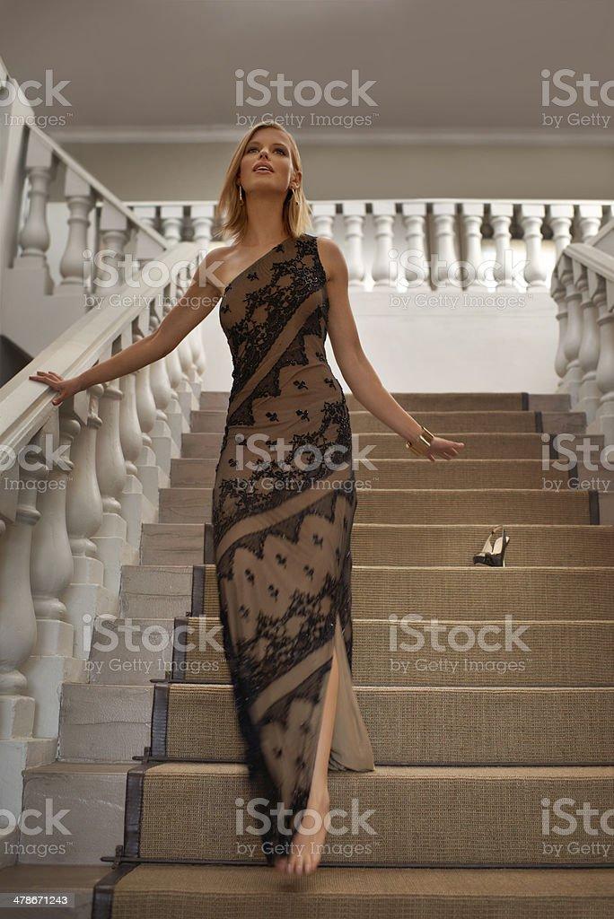 Descending gracefully stock photo