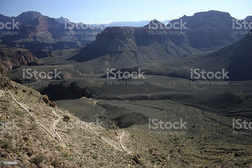 Descending into the Grand Canyon royalty-free stock photo
