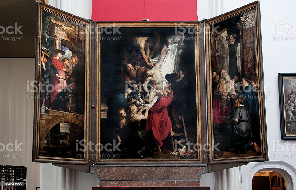 Descent from the cross, Peter Paul Rubens. stock photo