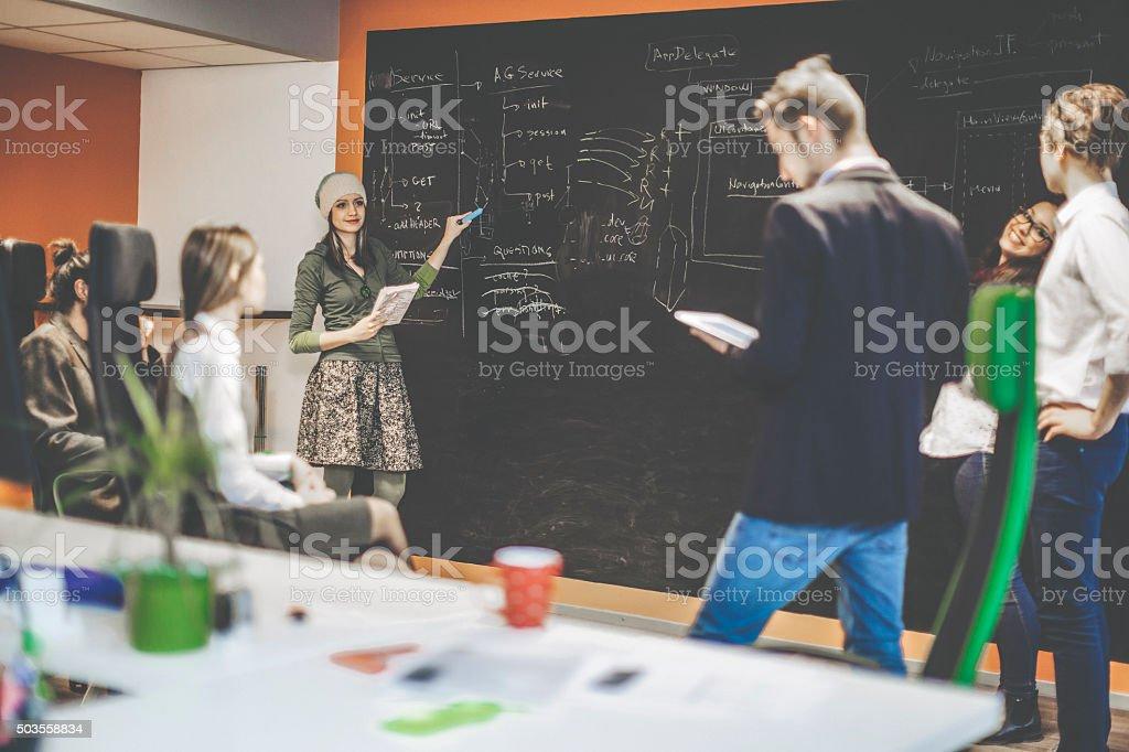 Describing the software architecture stock photo
