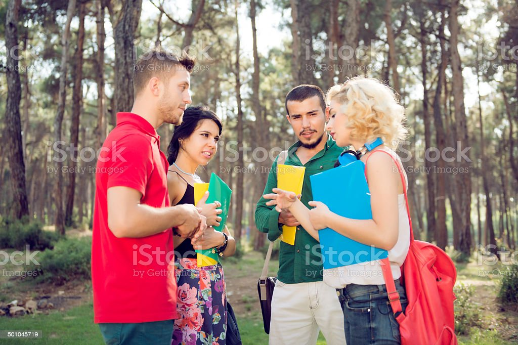 describing the subject of college students royalty-free stock photo