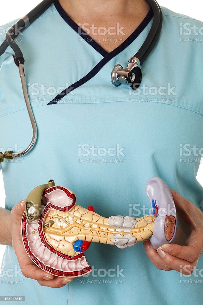 Deseased pancreas stock photo