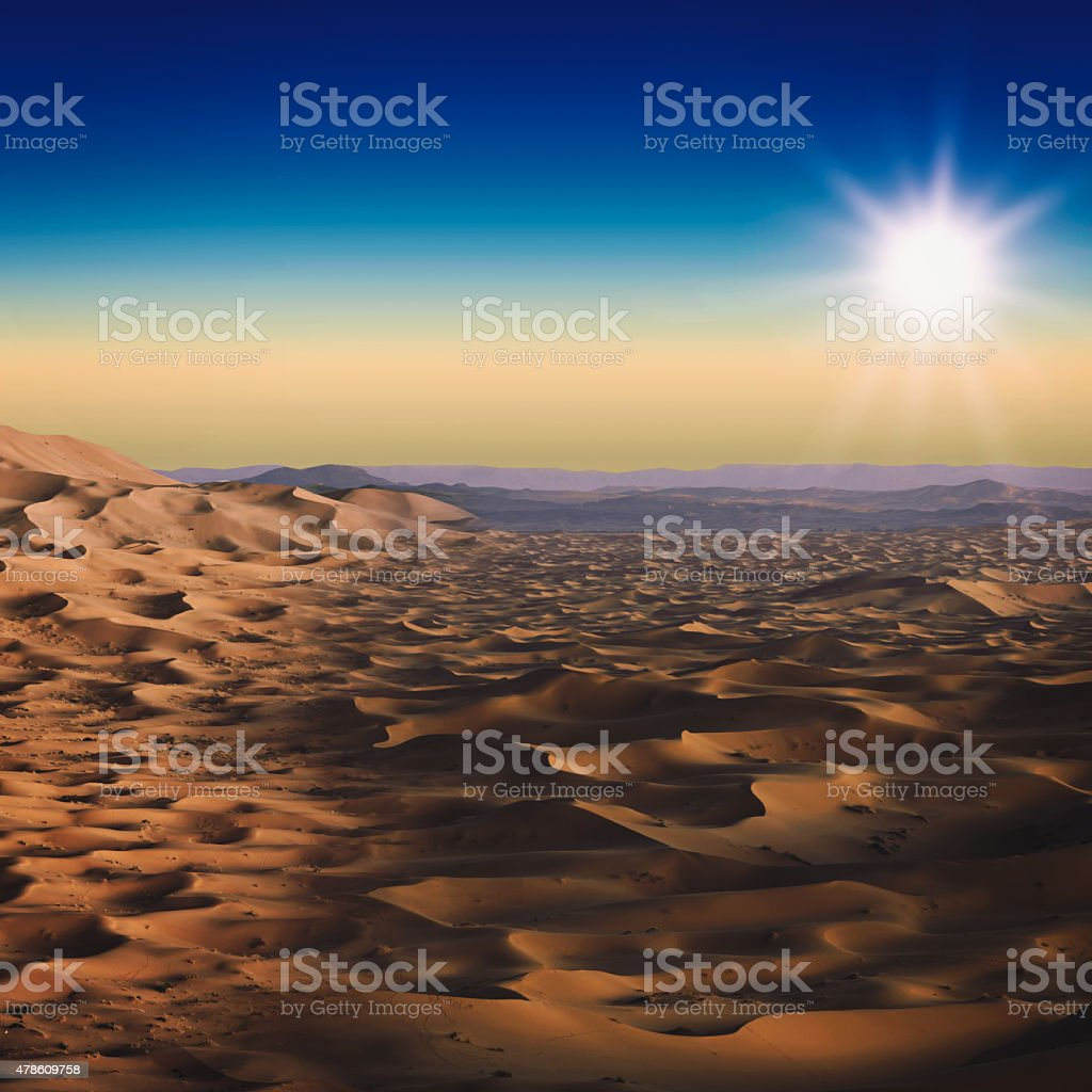 Desert. Abstract natural landscape for your design stock photo