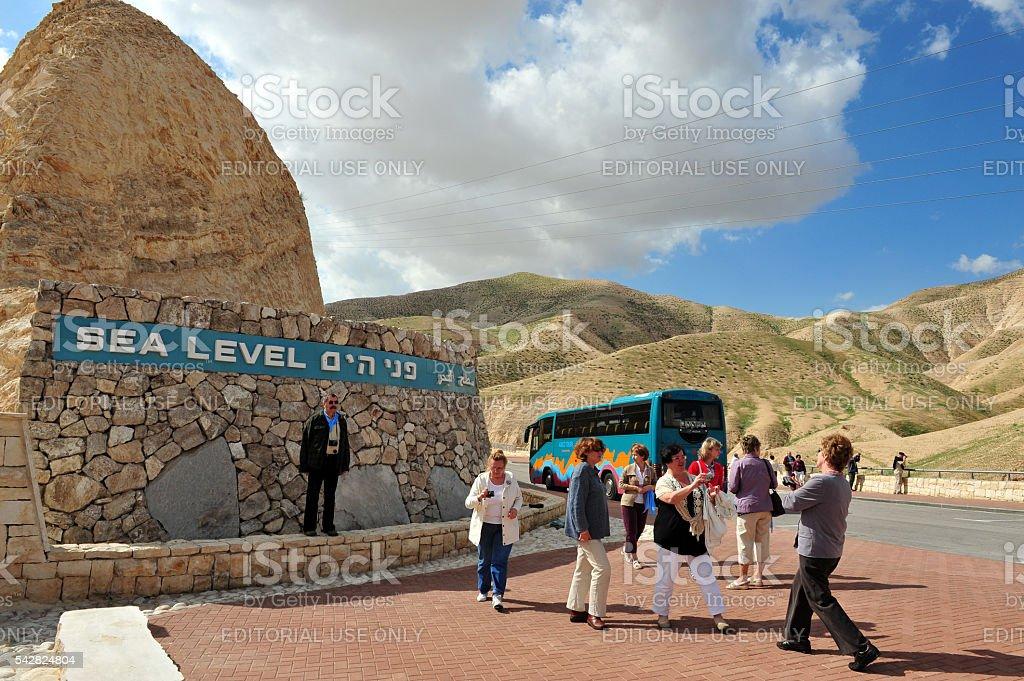 Desert Activities in the Judean Desert Israel stock photo
