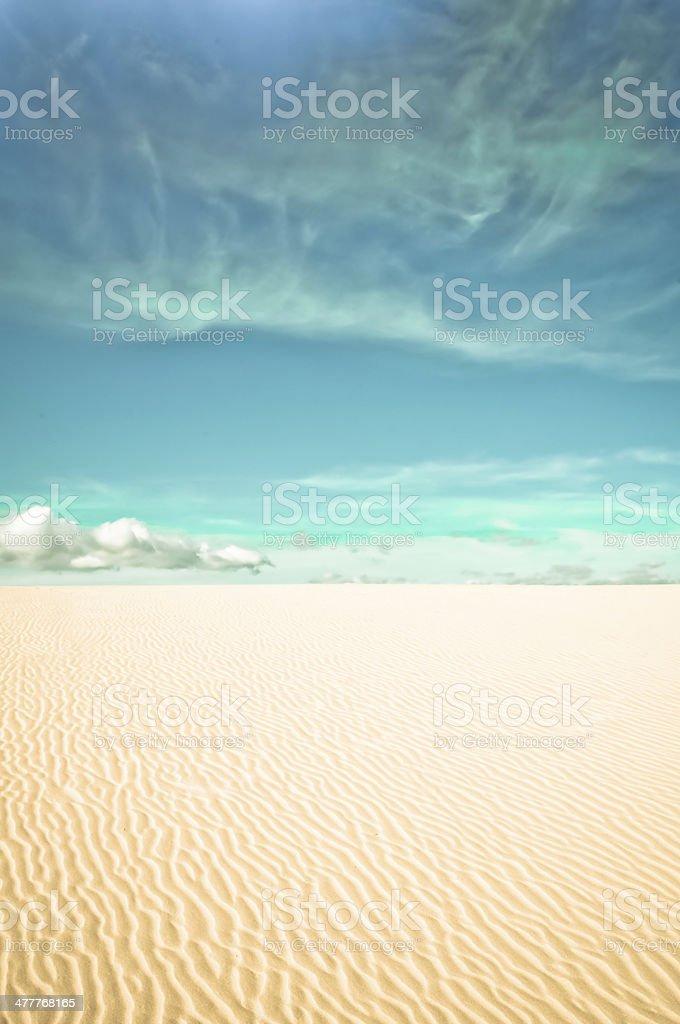 Wüste und Wolken Lizenzfreies stock-foto