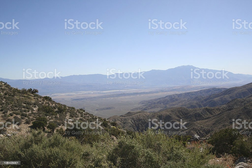 Desert and mountain panorama royalty-free stock photo