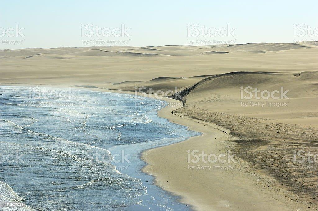 Desert and the Ocean stock photo
