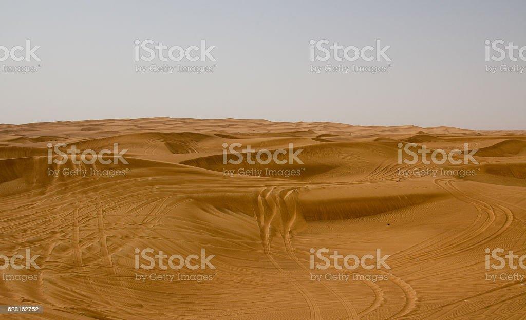 Desert area in Dubai, UAE stock photo