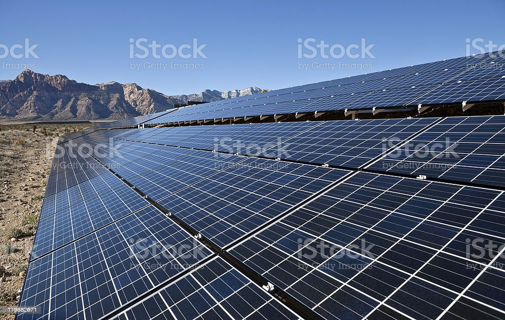 Desert Array stock photo