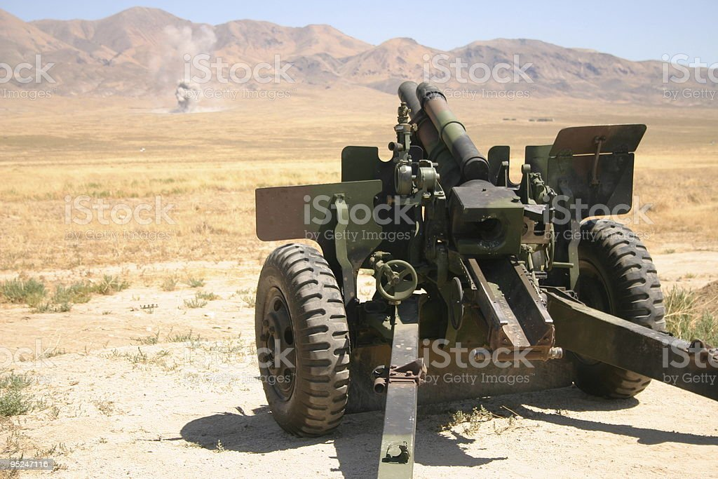 desert artillery stock photo