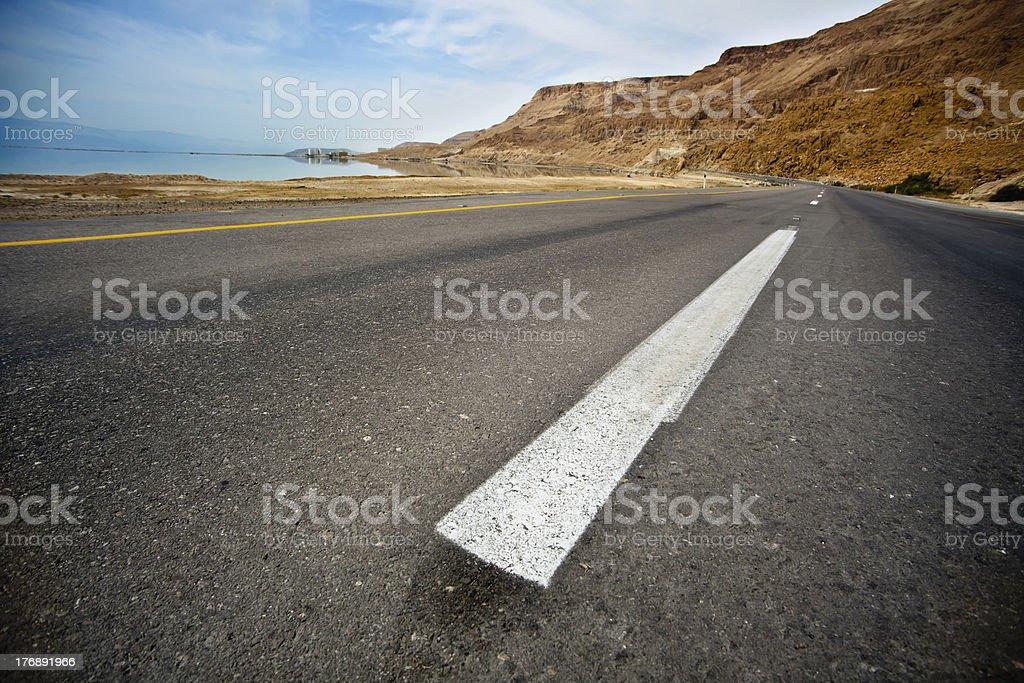 Desert Asphalt Road royalty-free stock photo