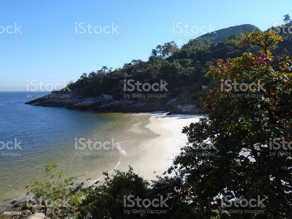Desert Beach in Rio de Janeiro, Brazil stock photo