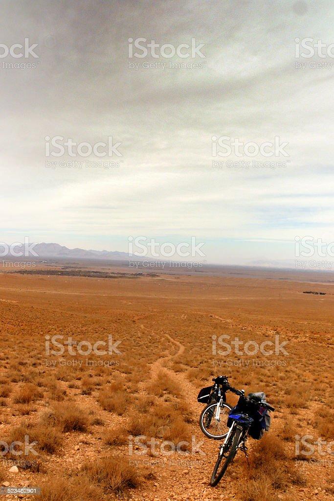 Désert de vélo photo libre de droits