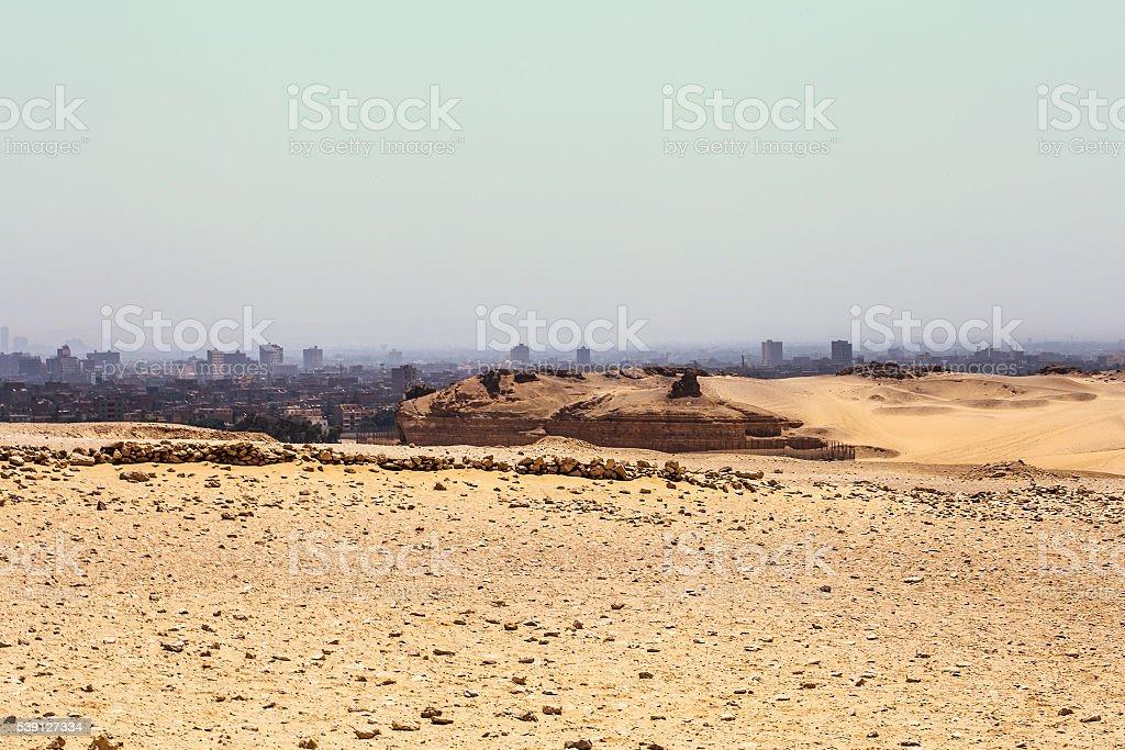 Desert Cairo city stock photo