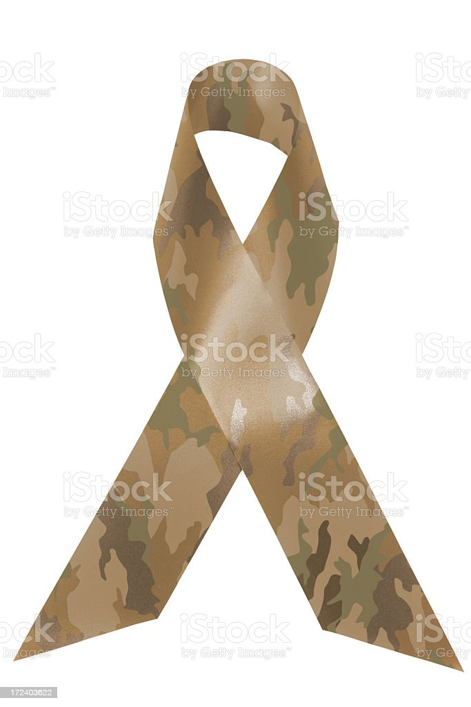 Desert camo awareness stock photo
