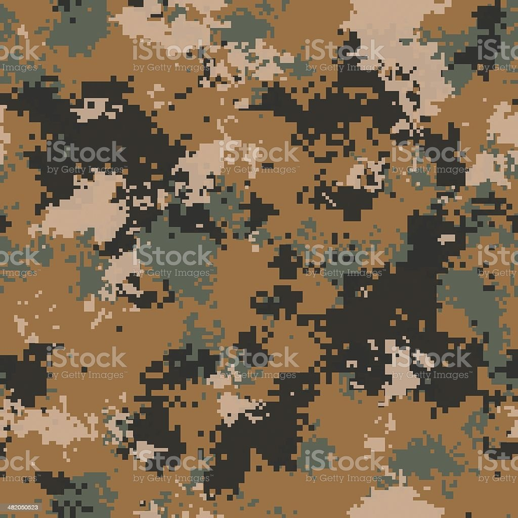 Desert Camouflage. Seamless Tileable Texture. stock photo
