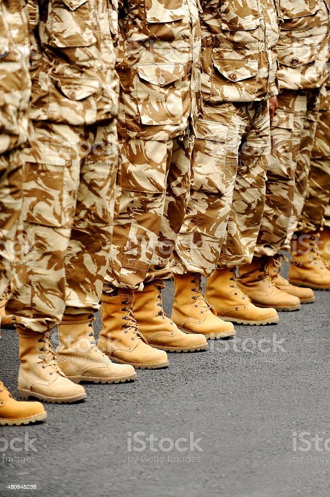 Desert camouflage uniform stock photo