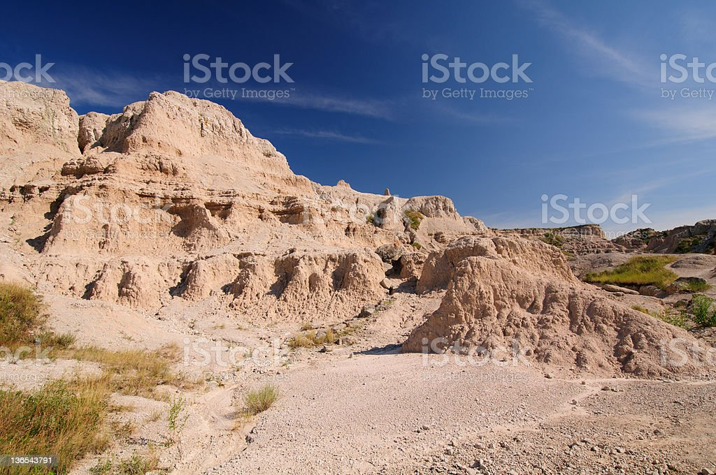 Desert Canyon in the Badlands royalty-free stock photo