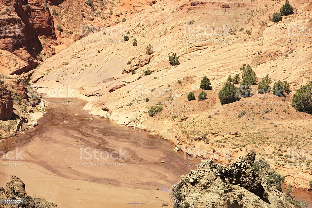 Desert Canyon River Landscape royalty-free stock photo
