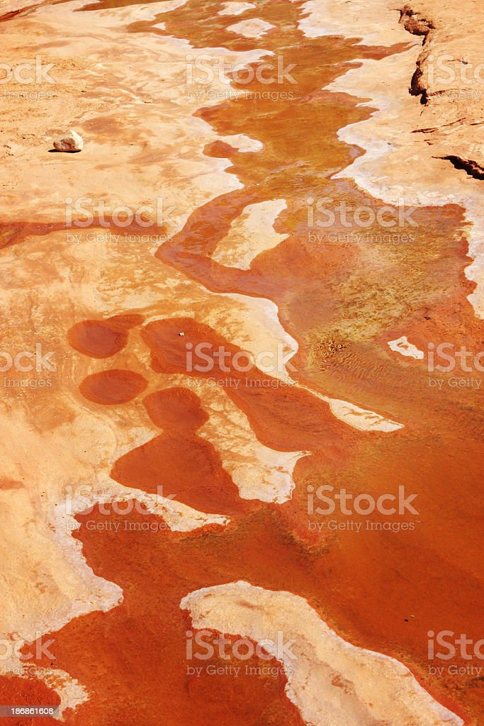 Desert Canyon Water Abstract royalty-free stock photo