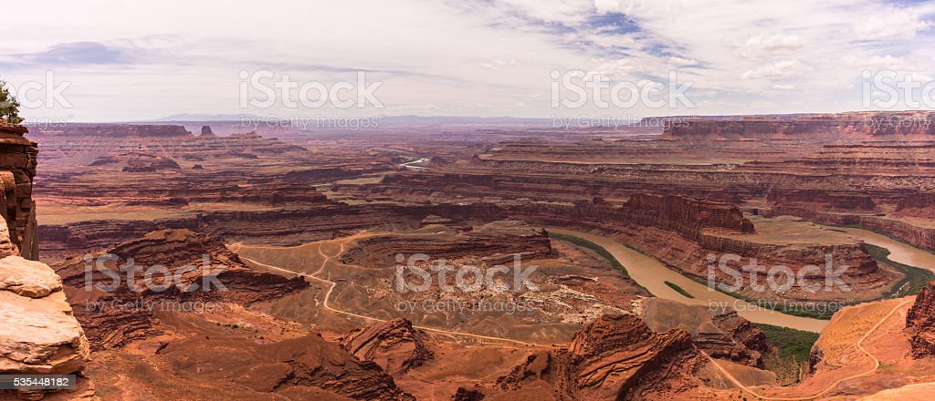Desert Canyons & Colorado River from Dead Horse Point, Utah stock photo