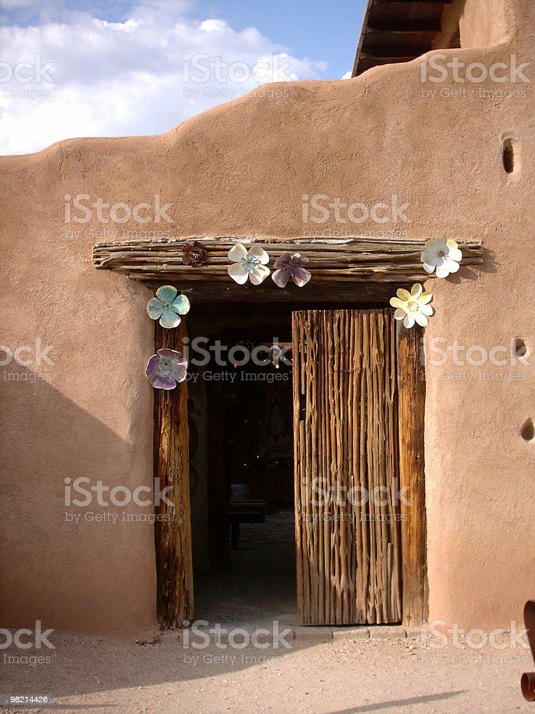 Desert Chapel Door stock photo