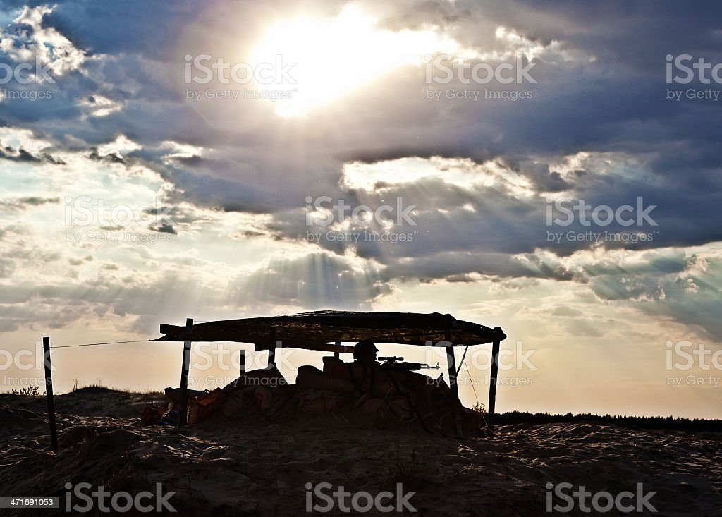 desert checkpoint royalty-free stock photo