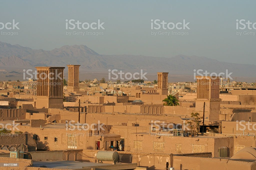 Desert Citiy's Windcatcher stock photo