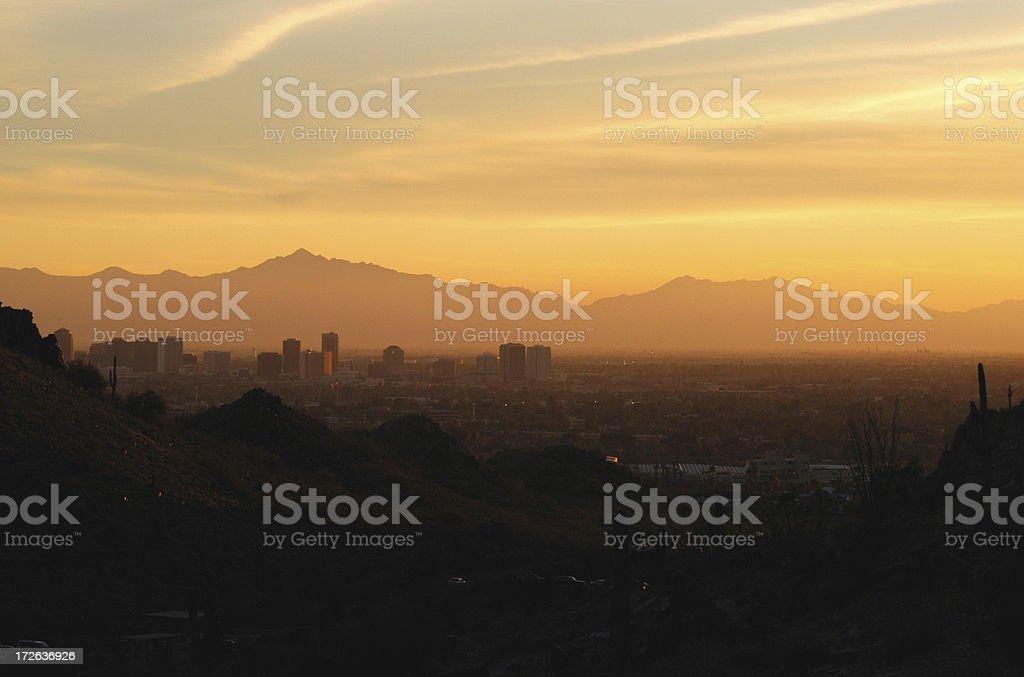 Desert City Sunset royalty-free stock photo