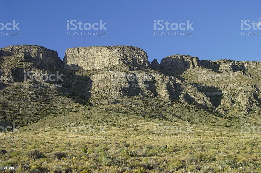 Desert cliffs stock photo