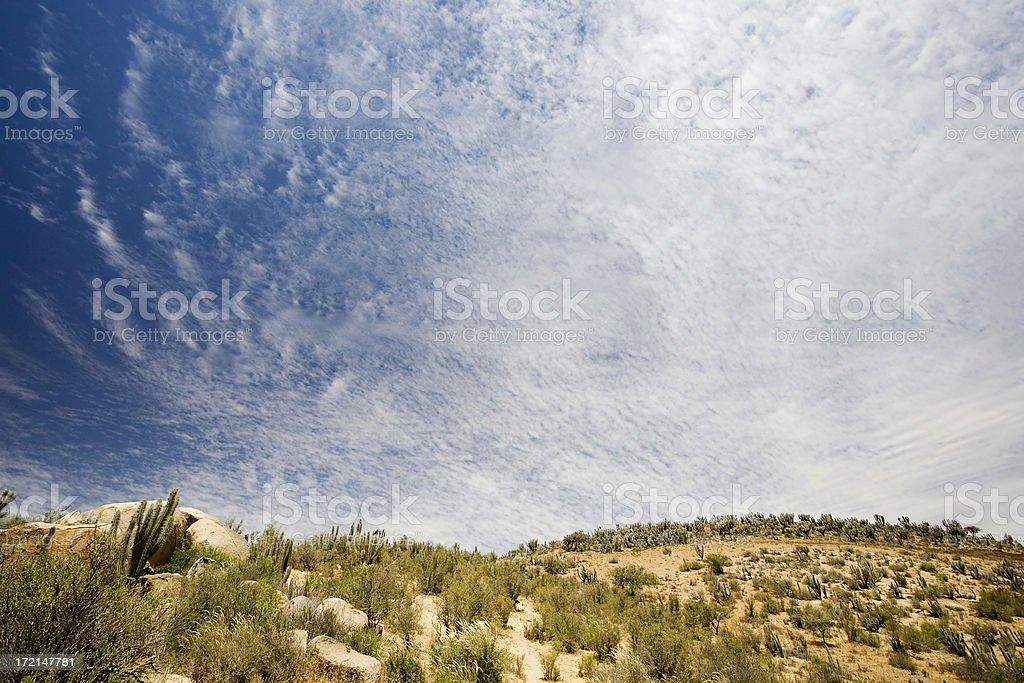 Desert Cloudscape stock photo