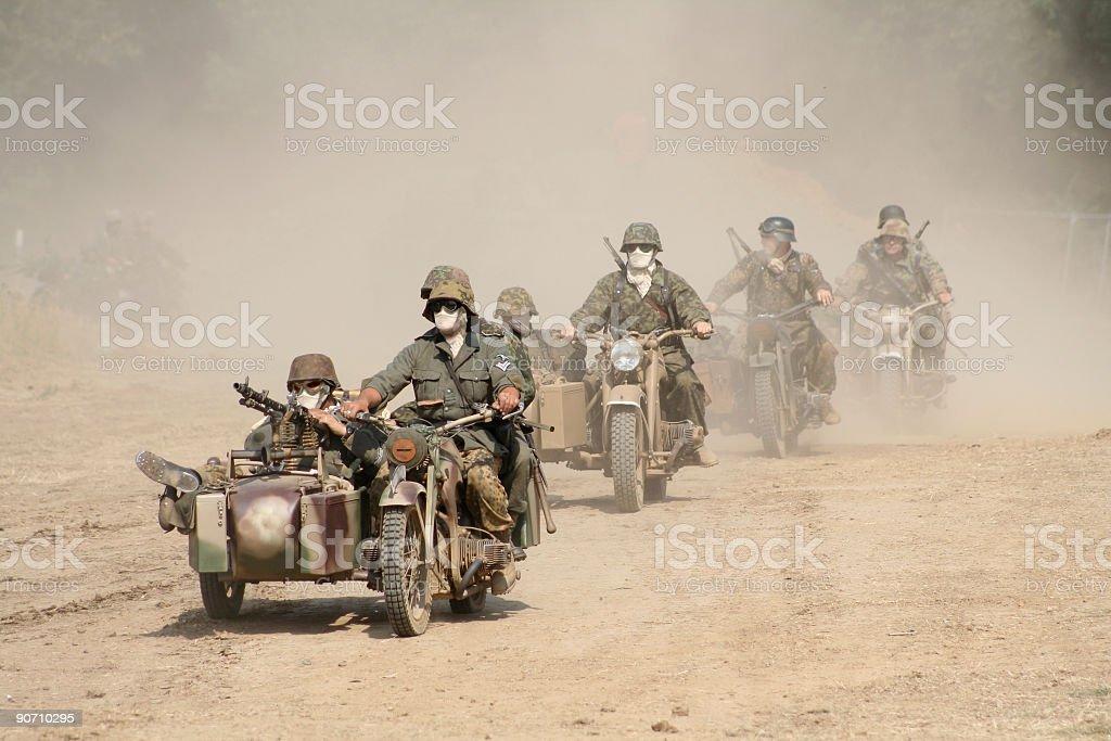 Desert Convoy royalty-free stock photo