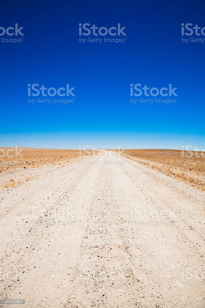 Desert Country Road royalty-free stock photo