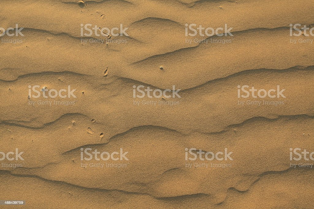 Desert dunes close-up stock photo