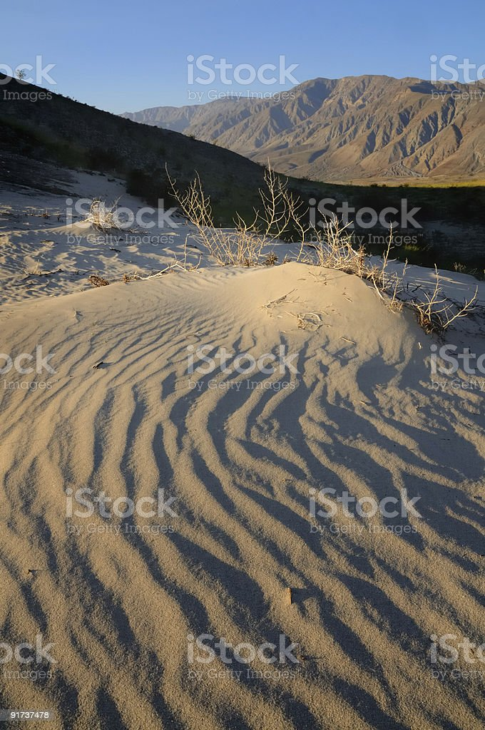 Dunas del desierto de color foto de stock libre de derechos