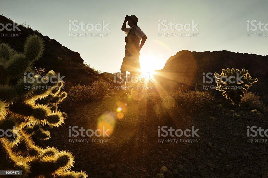 Desert Explorer Silhouette royalty-free stock photo