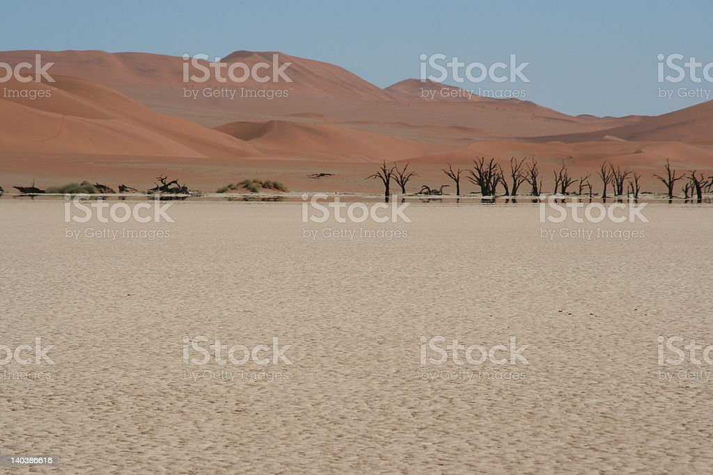 Desert Fata Morgana royalty-free stock photo