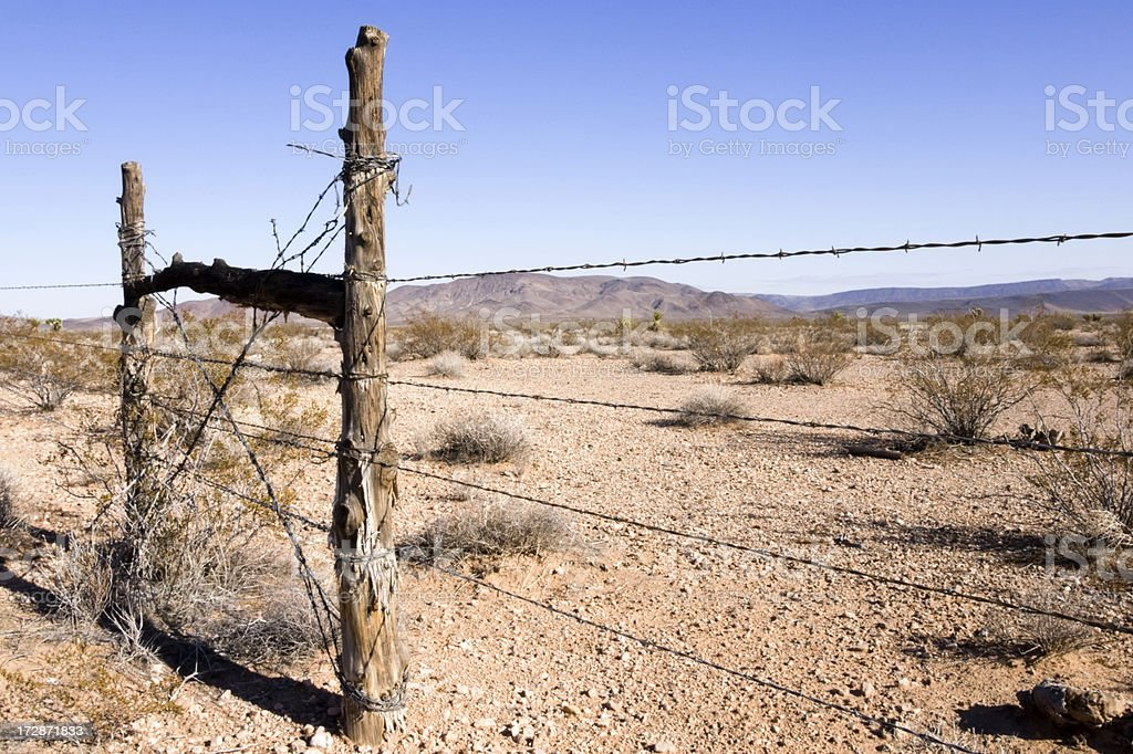 Desert Fence royalty-free stock photo